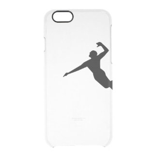 Volleyball Spike Silhouette iPhone Clear Case