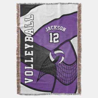 Volleyball Sport Ball in Purple, White & Black