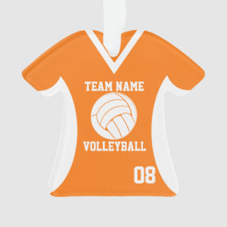 Volleyball Sports Jersey Orange with Photo Ornament
