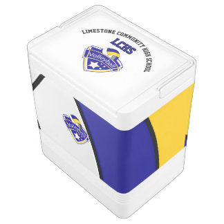 Volleyball Star | Yellow, White and Blue Cooler