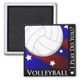 Volleyball Stars & Stripes Magnet