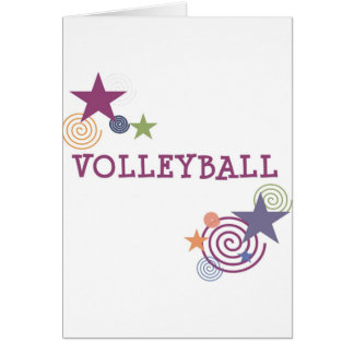 Volleyball Swirl Card