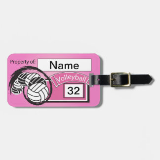 Volleyball Tag in Pink