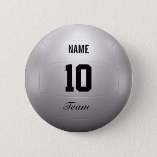 Volleyball Team 6 Cm Round Badge