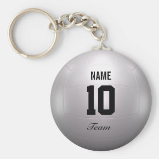 Volleyball Team Basic Round Button Key Ring