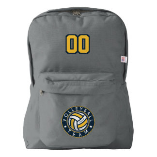Volleyball Team. Custom Player  Name & Number. Backpack
