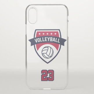 Volleyball Team. Custom Player  Number. iPhone X Case