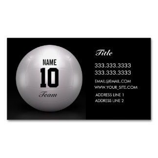 Volleyball Team Magnetic Business Cards