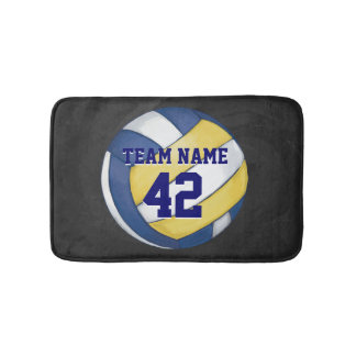 Volleyball Team Name and Number Bath Mat