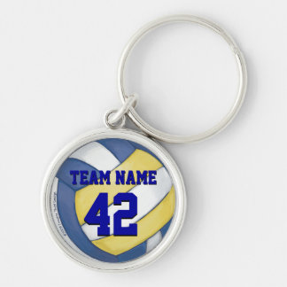 Volleyball Team Name and Number Key Ring