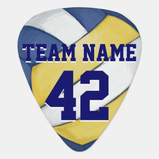 Volleyball Team Name and Number Plectrum