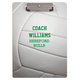 Volleyball Texture Personalized Clipboard