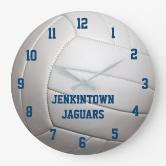 Volleyball Texture Personalized Wall Clock