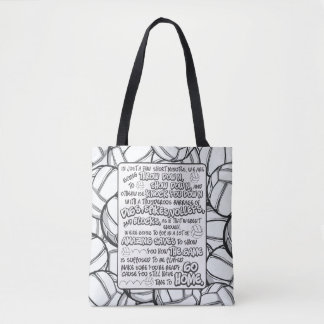 Volleyball Throw Down Tote Bag