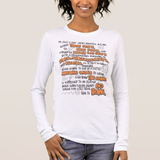 Volleyball Throwdown, Orange Long Sleeve T-Shirt