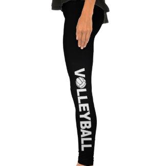 Volleyball Typography Sportswear Legging