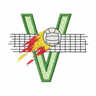 """Volleyball """"v"""" embroidered jacket"""