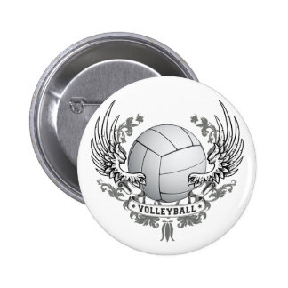Volleyball Wings Button