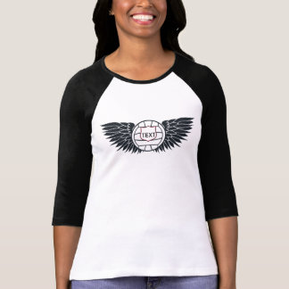 Volleyball Wings Raglan T-Shirt