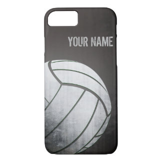 volleyball with Grunge effect Black Shade iPhone 8/7 Case