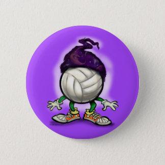 Volleyball Wizard 6 Cm Round Badge