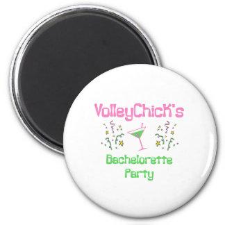 VolleyBride Bachelorette 6 Cm Round Magnet