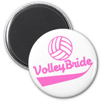 VolleyBride Swoosh 6 Cm Round Magnet