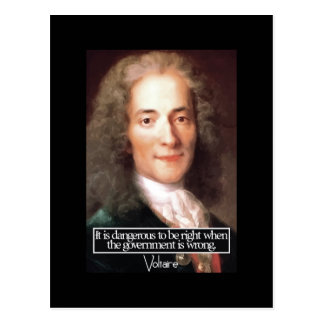Voltaire - Government quote postcard