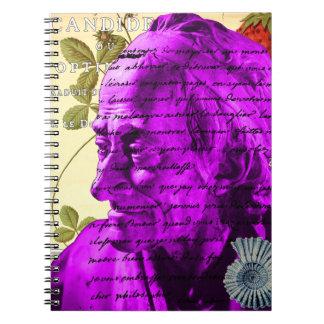 Voltaire Writer Philosopher Paris France Shell Notebook