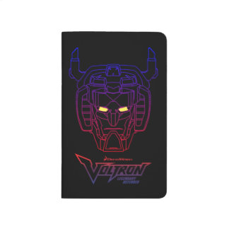 Voltron | Blue-Red Gradient Head Outline Journal
