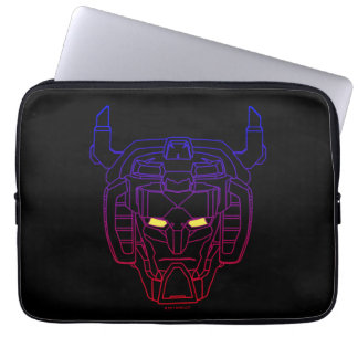 Voltron | Blue-Red Gradient Head Outline Laptop Computer Sleeves