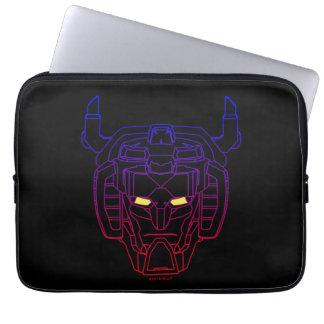 Voltron | Blue-Red Gradient Head Outline Laptop Sleeve