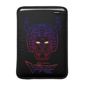 Voltron | Blue-Red Gradient Head Outline MacBook Sleeve