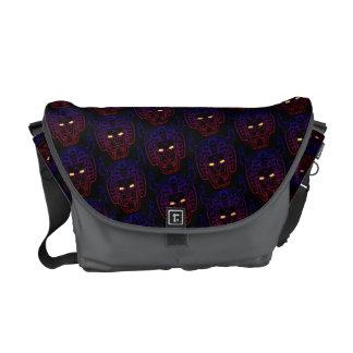 Voltron   Blue-Red Gradient Head Outline Messenger Bags