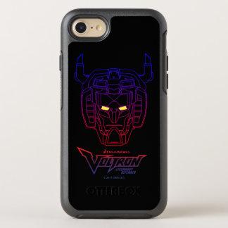 Voltron | Blue-Red Gradient Head Outline OtterBox Symmetry iPhone 8/7 Case