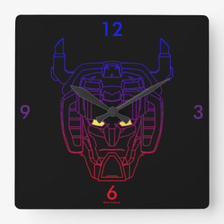 Voltron   Blue-Red Gradient Head Outline Wall Clocks