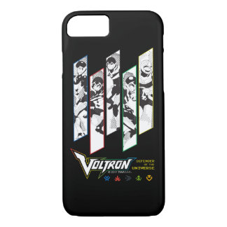 Voltron | Classic Pilots Halftone Panels iPhone 8/7 Case