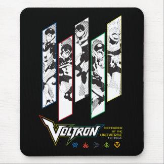 Voltron | Classic Pilots Halftone Panels Mouse Pad