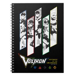 Voltron | Classic Pilots Halftone Panels Notebook