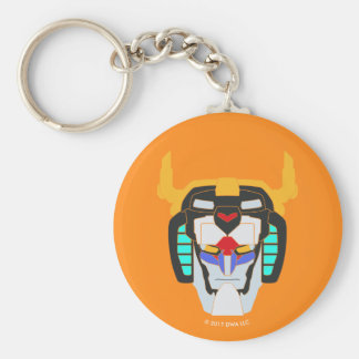 Voltron | Colored Voltron Head Graphic Basic Round Button Key Ring