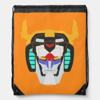 Voltron | Colored Voltron Head Graphic Drawstring Bag