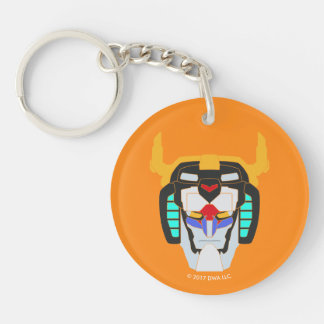 Voltron | Colored Voltron Head Graphic Key Ring