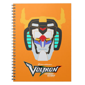 Voltron | Colored Voltron Head Graphic Spiral Notebook