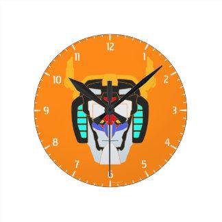 Voltron   Colored Voltron Head Graphic Wall Clock
