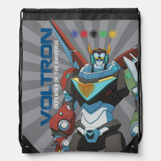 Voltron | Defender of the Universe Drawstring Bag