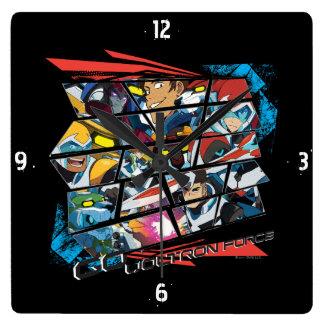 Voltron | Go Voltron Force Square Wall Clock
