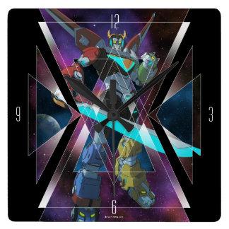 Voltron   Intergalactic Voltron Graphic Square Wall Clock