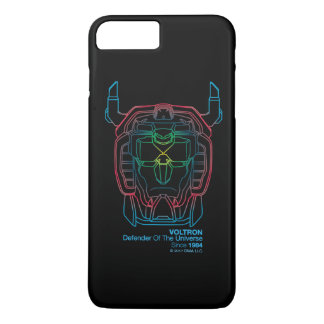 Voltron | Pilot Colors Gradient Head Outline iPhone 8 Plus/7 Plus Case