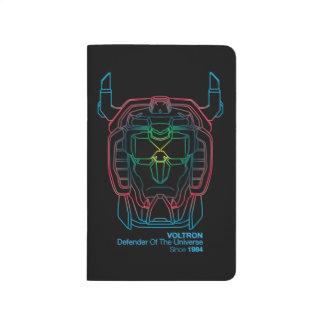 Voltron | Pilot Colors Gradient Head Outline Journal
