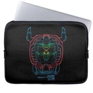 Voltron | Pilot Colors Gradient Head Outline Laptop Sleeve